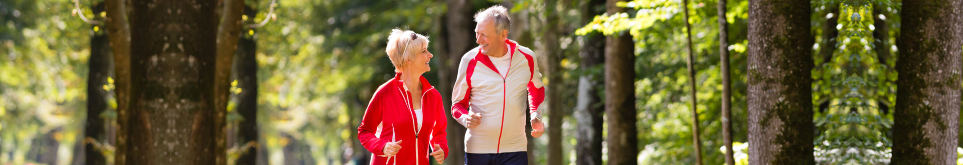 senior couple on jogging